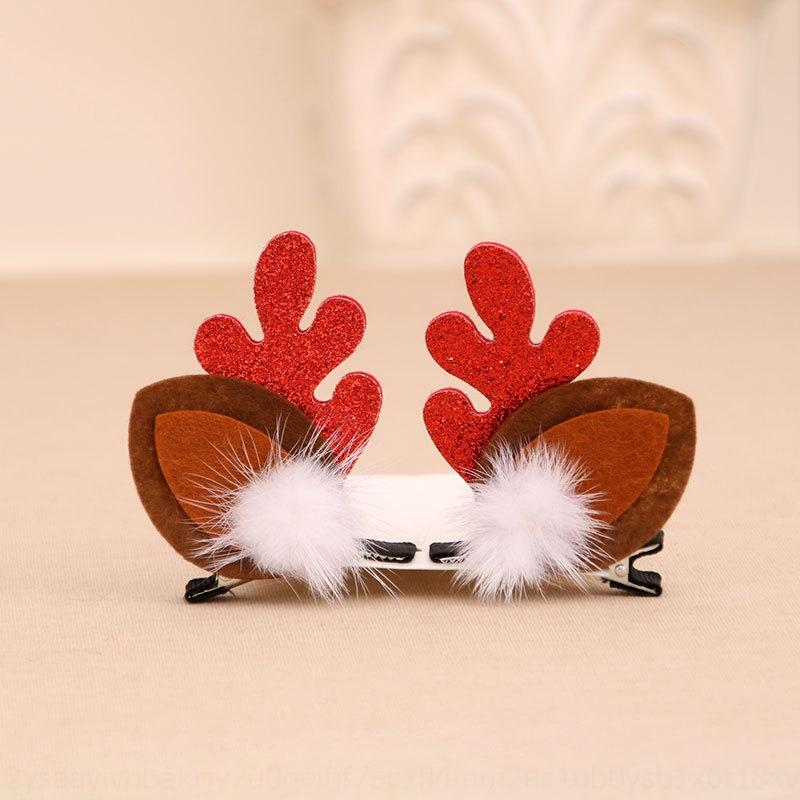 Children's small gift golden antler mink hair clip headdressGift headdress hairpin set