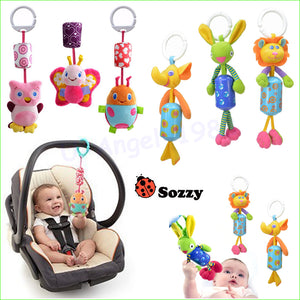 7pcs/lot Sozzy large bell bed hanging Plush Doll animal bell chimes baby toys Wholesale