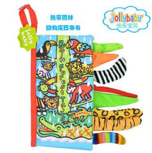 Jollybaby Baby Toys Infant Kids Early Development Cloth Books Learning Education Unfolding Activity Books Animal Tails Style