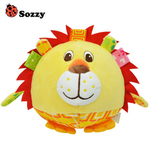 SOZZY Baby Soft Stuffed Plush Animal elephant monkey bed Rattles bell cloth ball Early Education Developmental toy
