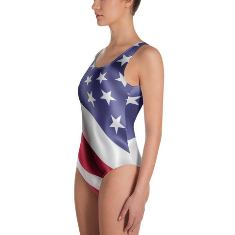 SunDawg American Flag One-Piece Swimsuit