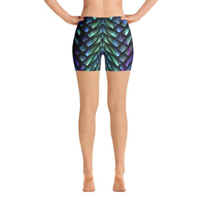 SunDawg Blue Green Mermaid Scale Shorts