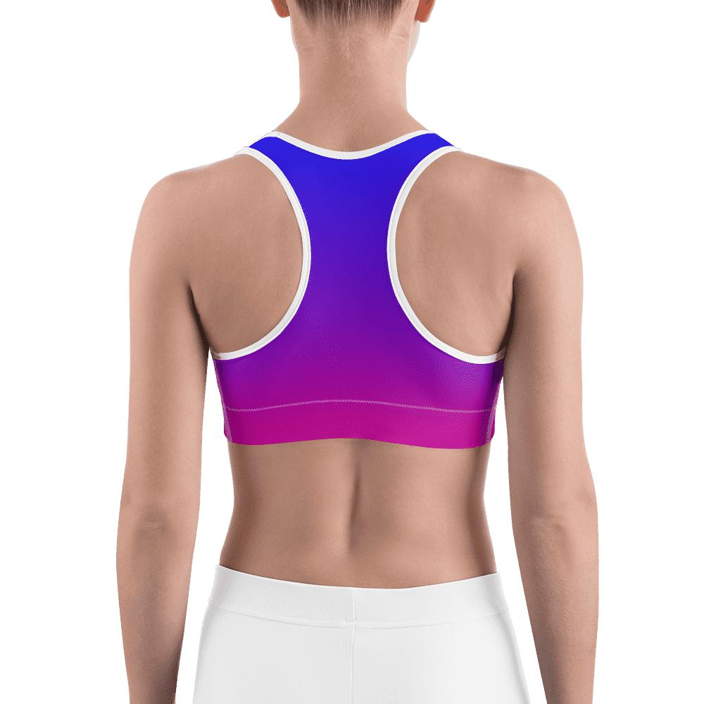 SunDawg Blue Pink Ombre Sports bra