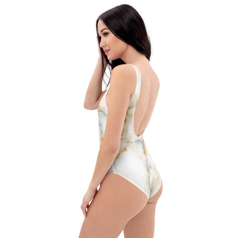 SunDawg Gold Tone Marble One-Piece Swimsuit
