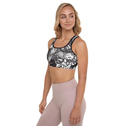 SunDawg Japanese Koi Padded Sports Bra