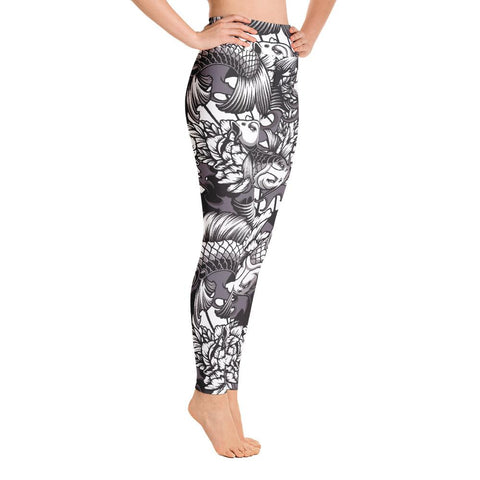 Image of SunDawg Japanese Koi Yoga Leggings