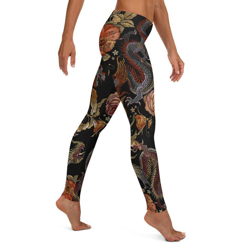Image of SunDawg Oriental Dragon Tapestry Leggings