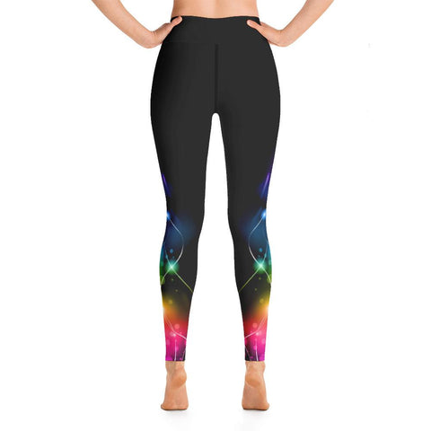 SunDawg Rainbow Streamers Yoga Leggings
