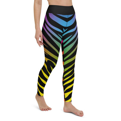 SunDawg Rainbow Tiger Print Yoga Leggings