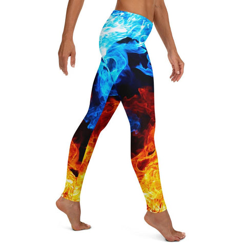 Image of SunDawg Red & Blue Flame Leggings