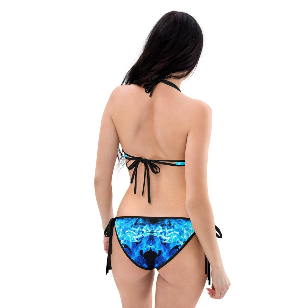 SunDawg Red & Blue Flame Reversible Bikini