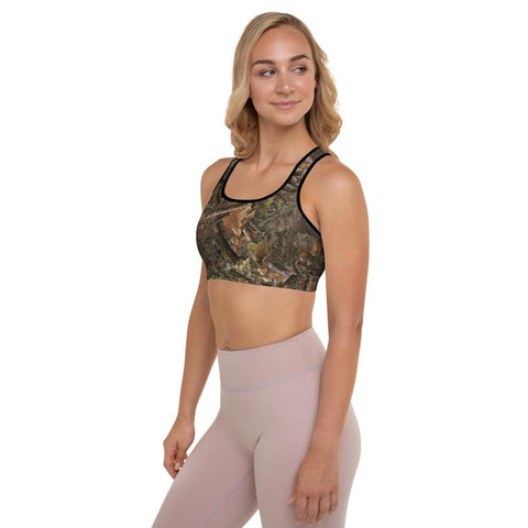 Image of SunDawg RX Woods Camo Padded Sports Bra