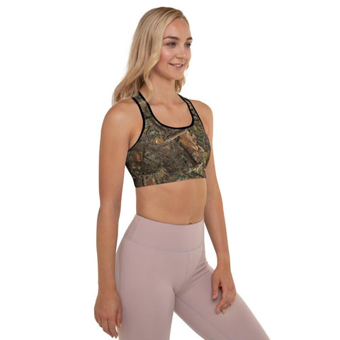 SunDawg RX Woods Camo Padded Sports Bra