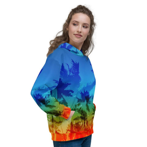 Image of SunDawg Sunset Palms Unisex Hoodie