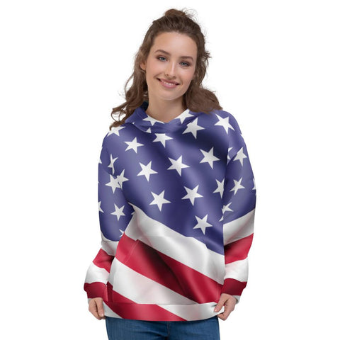 Image of SunDawg XS American Flag Unisex Hoodie