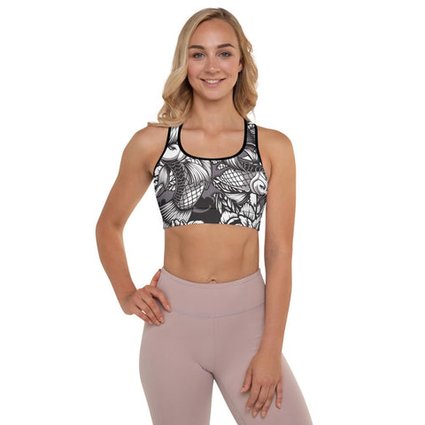 SunDawg XS Japanese Koi Padded Sports Bra