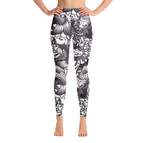 Image of SunDawg XS Japanese Koi Yoga Leggings