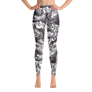 SunDawg XS Japanese Koi Yoga Leggings