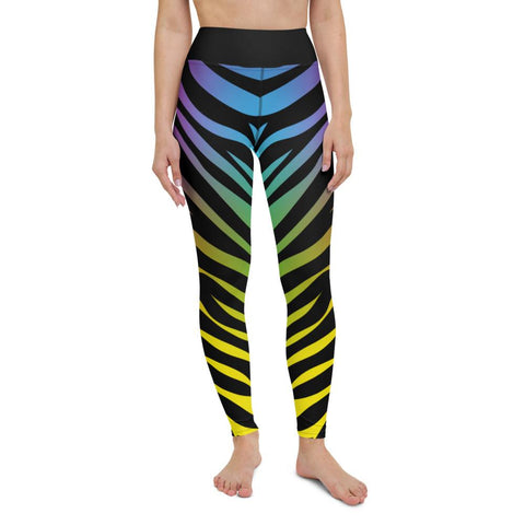 SunDawg XS Rainbow Tiger Print Yoga Leggings