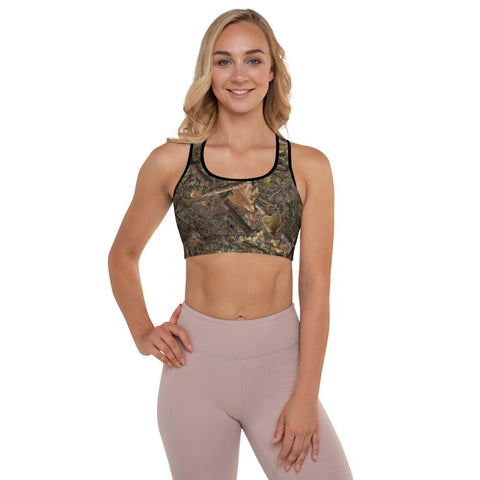 SunDawg XS RX Woods Camo Padded Sports Bra