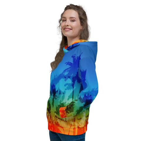 Image of SunDawg XS Sunset Palms Unisex Hoodie