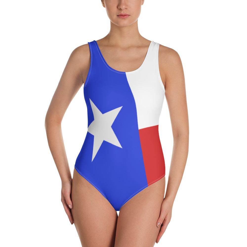 SunDawg XS Texas Flag One-Piece Swimsuit