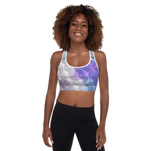 SunDawg XS Watercolor Cubic Padded Sports Bra