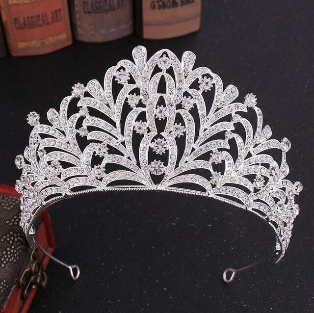 Crystal Leaves Tiara