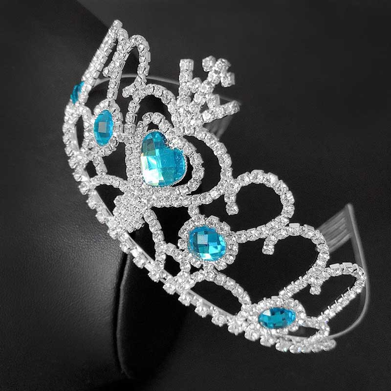 Blue Heart Tiara