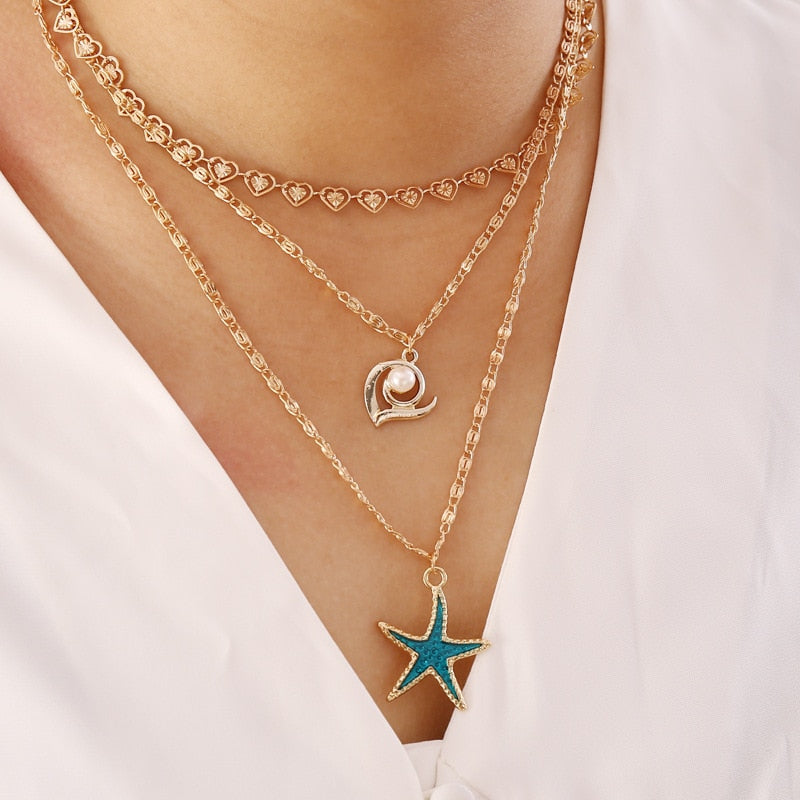 Ocean Love Necklace Set