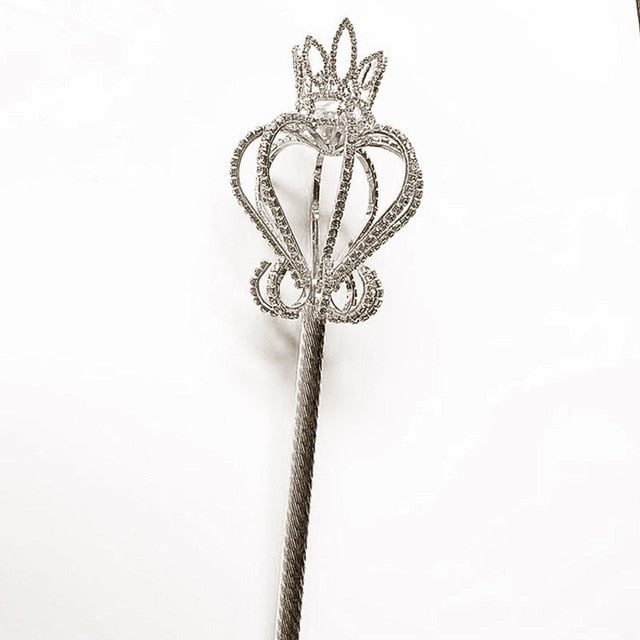 Silver Crown Bling Scepter