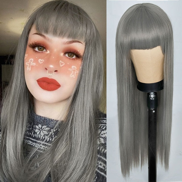 Silver Straight Wig