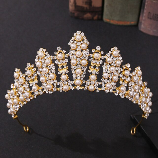 Pearl Decor Tiara