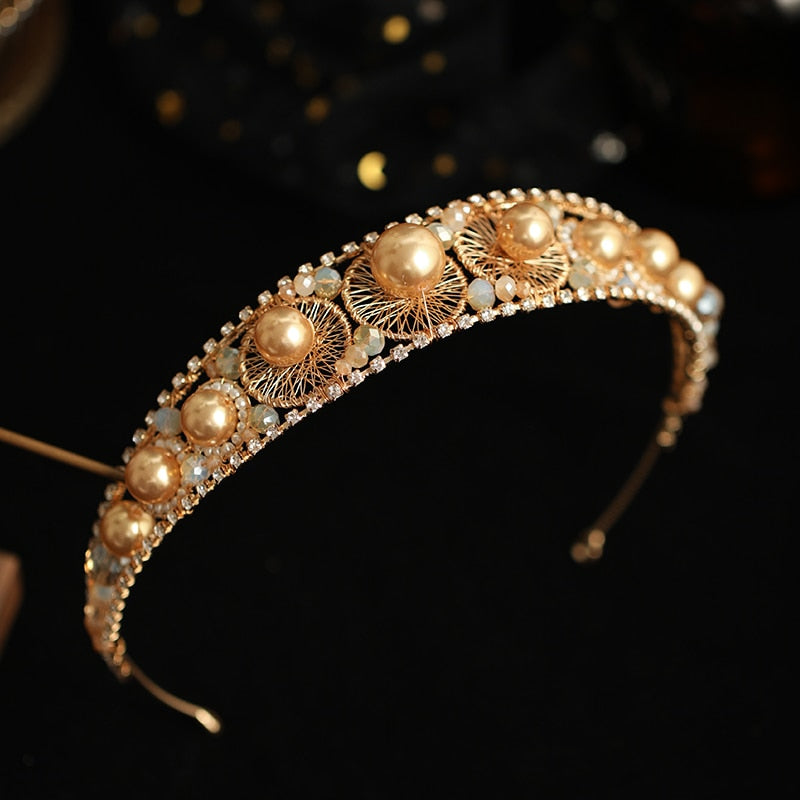 Golden Pearl Headband