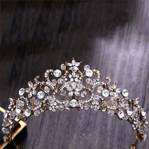 Crystal Flower Tiara