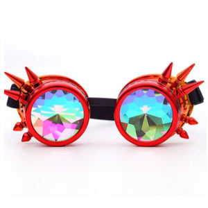 Goth Kaleidoscope Rave Goggles