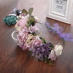 Purple Garden Tiara