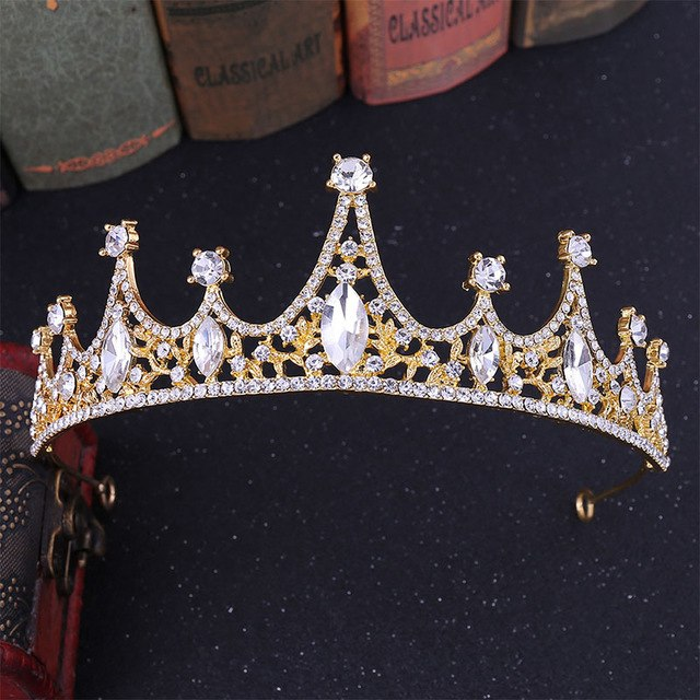 White Crystals Queen Tiara