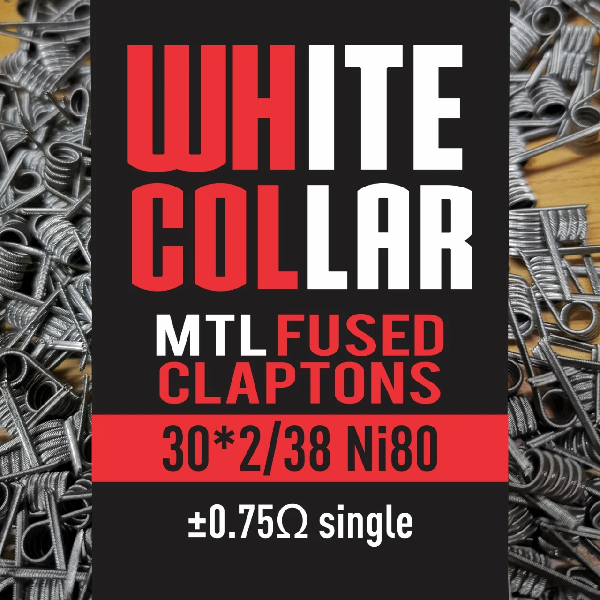 White Collar MTL Fused Clapton 30*2/38