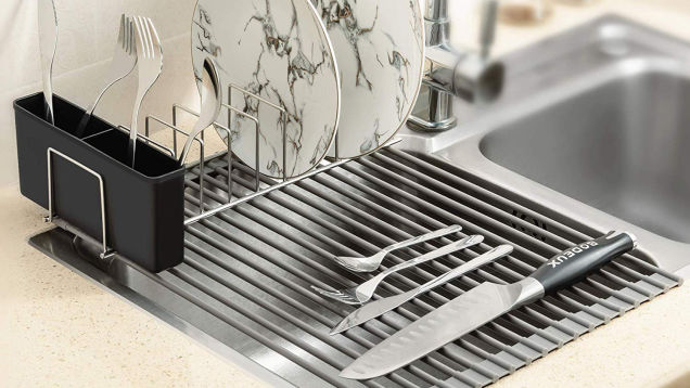 Don't Leave This Roll-Up Dish Rack Deal Hanging Out to Dry