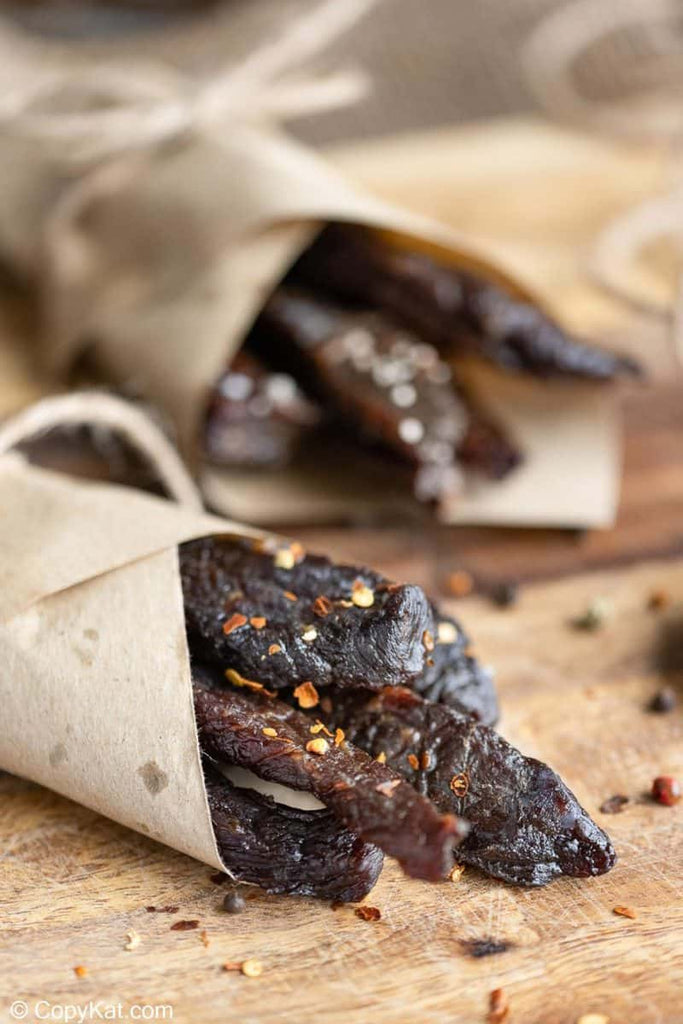 Spicy beef jerky is a wonderful snack