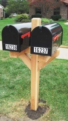 Delicious Double Mailbox Post