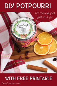Are you ready to make mason jar gifts?  We are sharing our Stove Top Potpourri