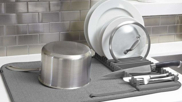 Do Your Kitchen Counter a Favor and Get This $10 Dish Drying Rack