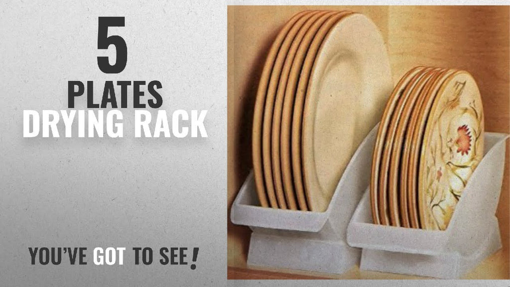 Best Plates Drying Rack [2018]: DINNER PLATE CRADLE BY JUMBL