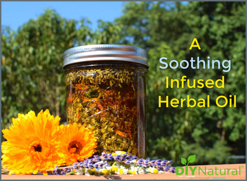 Making this infused herbal oil is simple and you can use it as the base for a nice massage, in skin-soothing salves, as a delightful bath oil, and more.