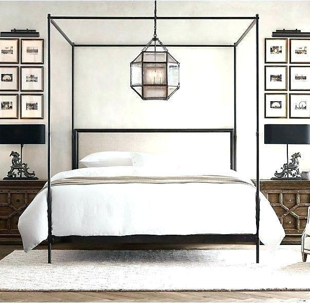 Affordable Black Iron Canopy Bed