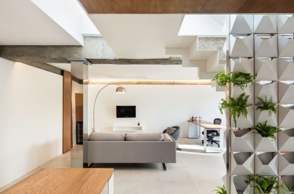 Single Bedroom Loft With Double-sided Living Wall Design