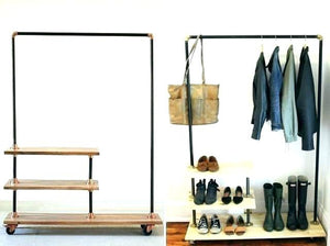 leaning clothes rack industrial clothing rack industrial clothing rack shoe and coat inspired by urban outfitters pipe leaning clothes leaning clothes drying rack.