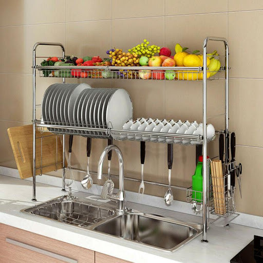 Over sink dish drying racks offer the most convenient and clean station even when after you wash the dishes